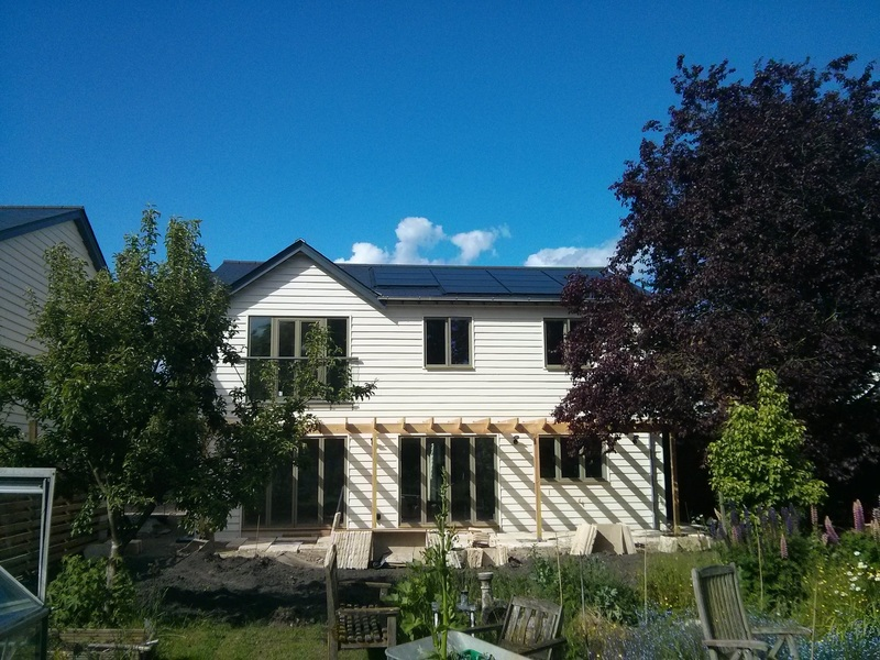 Black framed solar panels.