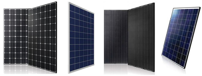 Buy Solar Panels - different frame options