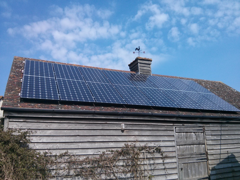 A large solar pv installation using standard panels.
