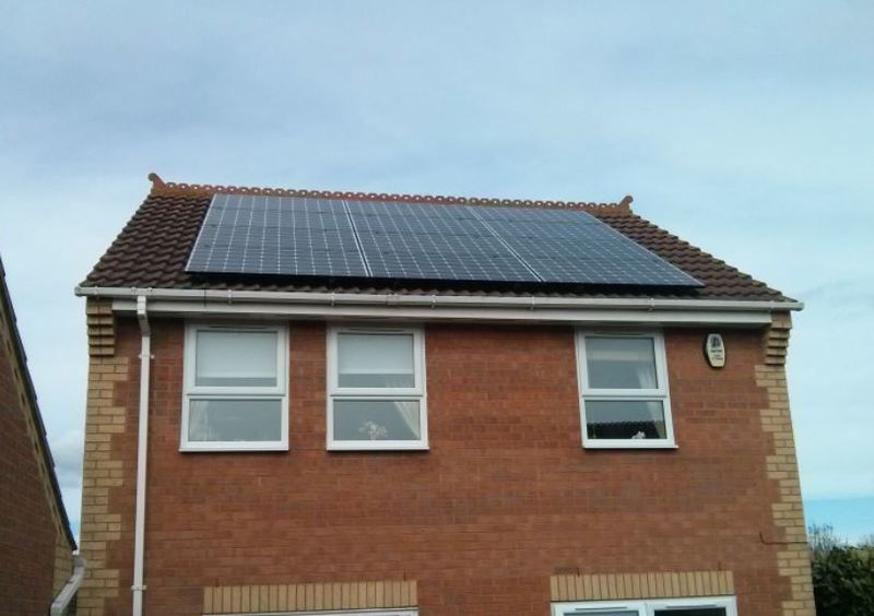 Mono-crystalline Solar Panel Installation with Black Frames