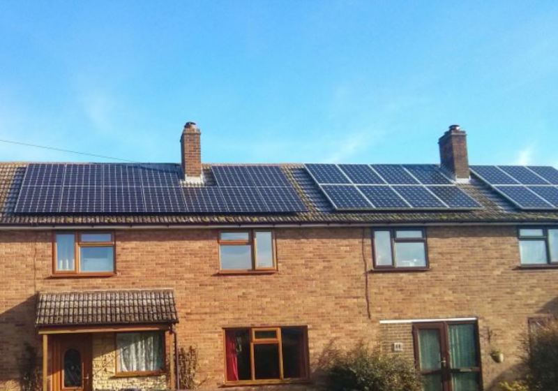 Black Frame and Silver Frame Solar panel systems next to each other