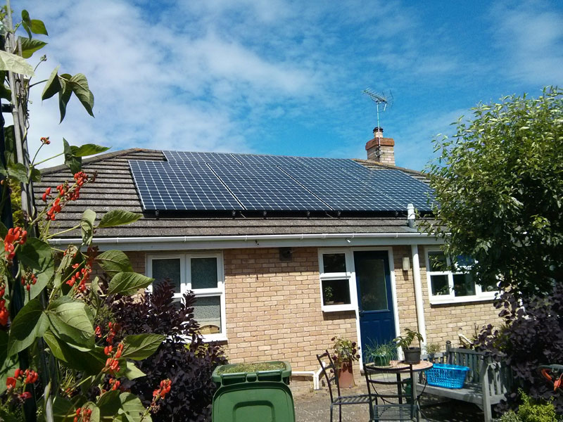 Solar panels - Example domestic installation