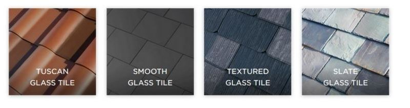 The different types of Tesla Solar Tiles available